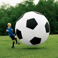 Giant Inflatable Soccer Ball - great decor pieces ;) like at the entrance etc