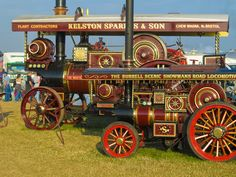 Two sizes of showman's road locomotive at the Great Dorset Steam Fair