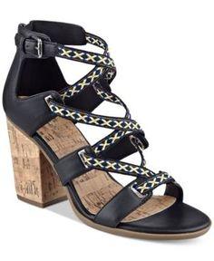 indigo rd. Papo Block-Heel Sandals - Black 8.5M