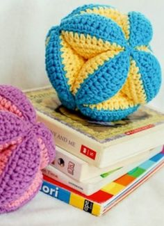 Soft and cuddly DIY clutch balls are a baby shower favorite!