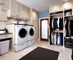 Mud Room Cabinets | Wormy Maple Mud/Laundry Room traditional laundry room