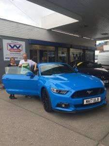 Another happy customer from Westwood picks up his new 17 plate Ford.