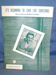 """ It's Beginning To Look Like Christmas "" Vintage Sheet Music Original 1951"