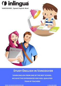 Study English in Vancouver, Canada and have fun while doing it. Contact us today at and register for courses at inlingua Vancouver. English Study, Learn English, Communication Skills, Vancouver, Improve Yourself, Have Fun, Canada, Learning, Learning English