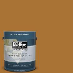 BEHR Premium Plus Ultra 1-gal. #310D-7 Mayan Gold Satin Enamel Interior Paint