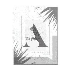 Monogram Poster Leaf Initial Print Personalised Letter | Etsy Typography Prints, Lettering, Letter Wall Art, Digital Prints, Initials, Monogram, Wall Decor, Art Prints, Illustration