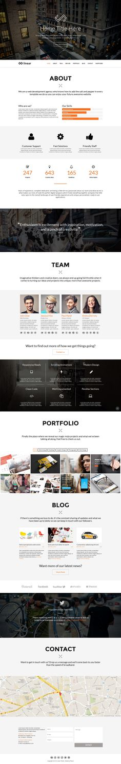 Linear - Onepage Wordpress Theme #web #design #wordpress