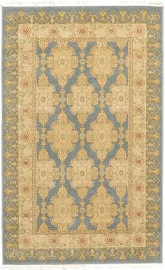 Blue+Allover+Sultanabad+Area+Rug