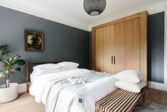 59 Gorgeous Modern Scandinavian Bedroom Design - About-Ruth Scandinavian Bedroom, Scandinavian Interior Design, Contemporary Interior Design, Minimalist House Design, Minimalist Interior, Minimalist Home, Minimal Bedroom, Modern Bedroom, Gray Bedroom