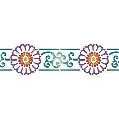 $25 Border Stencils | Chrysanthemum Wall Stencil | Royal Design Studio