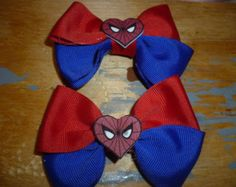Spider-man Hair Bow Set