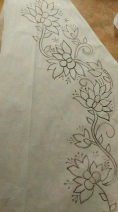 45 Ideas For Embroidery Patterns Machine Saree Candlewicking Patterns, Hand Embroidery Design Patterns, Embroidery Hoop Crafts, Embroidery Flowers Pattern, Hand Embroidery Stitches, Ribbon Embroidery, Embroidery Art, Machine Embroidery, Beading Patterns