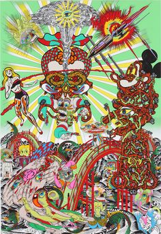 Selection of paintings by pop artist Keiichi Tanaami. Check out more trippy images Japanese Illustration, Illustration Art, Keiichi Tanaami, Modern Art Pictures, Pop Art, Art Beat, Art Japonais, Claes Oldenburg, Japanese Painting