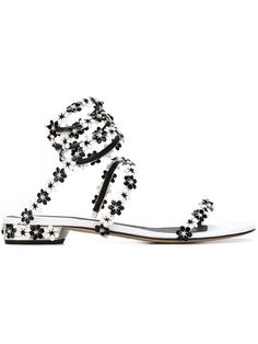 Shop Rene Caovilla floral strappy sandals in Gente Roma from the world's best independent boutiques at farfetch.com. Shop 400 boutiques at one address.