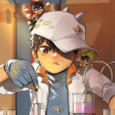 Have a redraw of an old art from 2012 🤣 BoBoiBoy Movie 2 Let's go! Remember to stay until the end credits and make sure you don't spoil… Boboiboy Anime, Anime Kiss, Anime Couples Manga, Cute Anime Couples, Anime Art, Anime Galaxy, Boboiboy Galaxy, Pocky Game, Doraemon Wallpapers