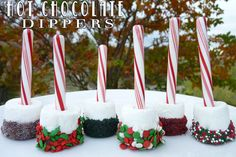 hot chocolate dippers and several other great ideas for gifts or fun