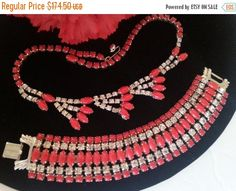 Now On Sale Signed Gale Red Rhinestone Demi by MartiniMermaid