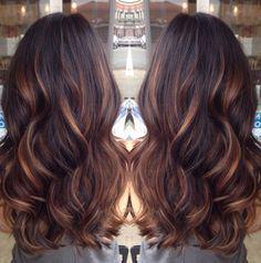 brown hair caramel lowlights - Google Search