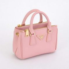 Prada mini Saffiano Calfskin Leather Totes BN2316 Pink