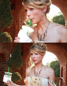"""Taylor Swift drinking Starbucks in between filming of """"Love Story"""" All About Taylor Swift, Live Taylor, Taylor Swift Pictures, Taylor Alison Swift, Young Taylor Swift, Taylor Taylor, Harry Styles, Swift 3, Role Models"""