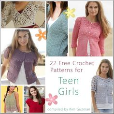 Link Blast: 22 Free Crochet Patterns for Teen Girls | WIPs 'N Chains