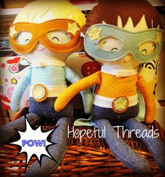 Thank you to Hopeful Threads for the wonderful Pattern Review - Superhero Doll by Dolls & Daydreams