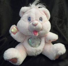 Vintage Fantasy~*Pink Twinkle Bears Plush*~1995 HTF Adorable Bear WORKS!