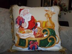 Christmas, Painting, Color, Grande, Queen, Applique Quilts, Painting On Fabric, Embellishments, Throw Pillows