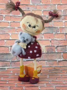 Plush Pattern, Crochet Doll Pattern, Crochet Patterns Amigurumi, Amigurumi Doll, Cat Pattern, Crochet Animal Patterns, Stuffed Animal Patterns, Doll Patterns, Knitted Dolls