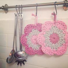 Agarradores crochet