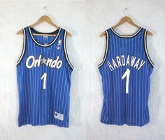 penny hardaway jersey size large. mens large. nba jersey. orlando magic jersey. mint condition. basketball jersey by LondonVtg on Etsy