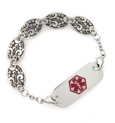 Antique Gate Medical ID Bracelet  Who says Medical Alert bracelets have to be boring!