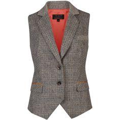 Ted Baker Gali tweed waistcoat ($195) ❤ liked on Polyvore
