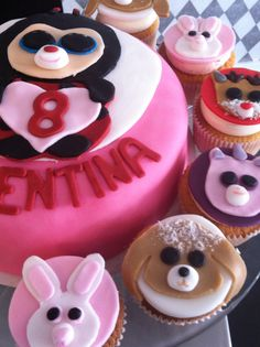 Beanie boo's, not just any, beanie boo on cakes and cupcakes!