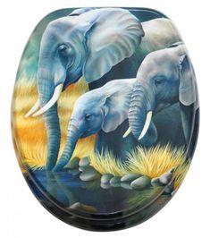 WC-Sitz Elefanten Wc Sitz, Tableware, Elephants, Dinnerware, Tablewares, Dishes, Place Settings