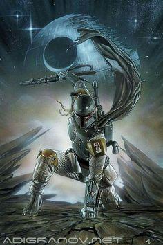 Awesome Stars Wars artwork. Boba Fett