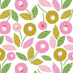 "floral pattern by Caroline Bourles of ""My Textile Design"""
