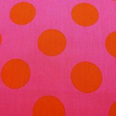 Stofje Stenzo nop 4.5cm rose met oranje kleur 12