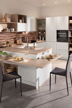 Kitchen with central island: models of kitchens with trendy island - Mass . - Kitchen with central island: models of kitchens with trendy island – Massias – # - Home Decor Kitchen, New Kitchen, Island Kitchen, Awesome Kitchen, Kitchen Ikea, Kitchen Tray, Kitchen Dinning, Rustic Kitchen, Kitchen Hacks