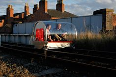 'm-blem' takes to the abandoned rail lines