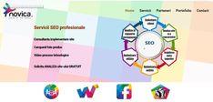 Web site de prezentare pentru partenerul nostru de optimizare SEO in mediul online. Seo, Web Design, Perms, Design Web, Website Designs, Site Design