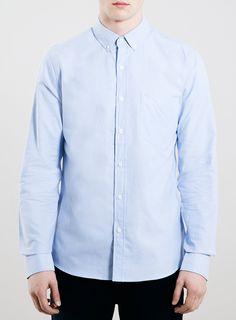 Blue Oxford Long Sleeve Shirt