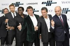 As far as movie premieres go, Sylvester Stallone is a seasoned pro. And the veteran actor certainly didn't disappoint when he emerged at the world premiere of the highly anticipated flick The Expendables 3 in London's Leicester Square on Monday. The Expendables Cast, Expendables Tattoo, Melanie Griffith, Silvester Stallone, Action Movie Stars, Wesley Snipes, Dolph Lundgren, Rocky Balboa, Jason Statham