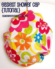Easiest Shower Cap (and so cute!) - Home Sweet Homebodies