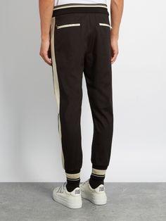 Dolce & Gabbana Side-striped stretch-gabardine track pants