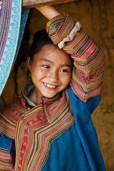 Nena de la Tribu Hill. Tailàndia.