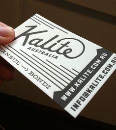 Kalite - letterpress business cards