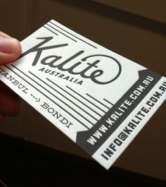 Kalite - letterpress business cards
