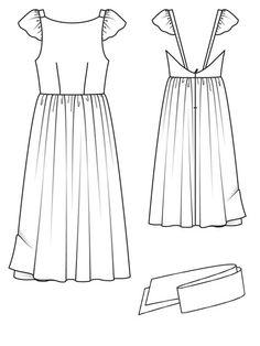 Love this dress pattern! So romantic and elegant. Burda Style - Open Back Dress 03/2013 #111