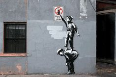 10 Famous Banksy Street Art Transformed Into Mesmerizing Animated GIFs, 1 of 2 | 3bomb.com